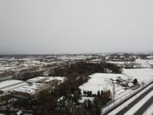 uitzicht vanaf het HNK-gebouw, 13 januari 2017